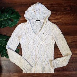 J. Crew Cable Knit Beach Pullover Hoodie Sweater